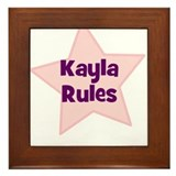 Kayla Rules Framed Tile