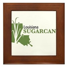 Louisiana Sugarcane Framed Tile