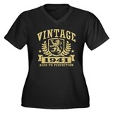 Vintage 1942 Women's Plus Size V-Neck Dark T-Shirt