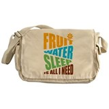 FRUIT.WATER.SLEEP Messenger Bag