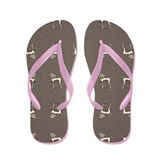 Weimaraner Tennis Slate Flip Flops