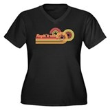 Keepin' It Real Women's Plus Size V-Neck Tee (DK)