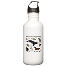 Massachusetts State Animals Water Bottle
