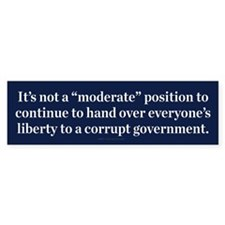 Moderate Corruption Bumper Bumper Sticker