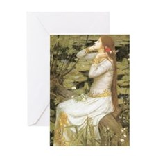 Ophelia by Waterhouse Greeting Card