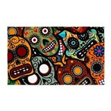 Day Of The Dead 3'x5' Area Rug