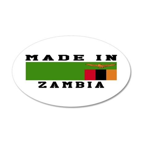 Zambia Made In 35x21 Oval Wall Decal