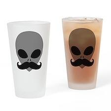 mustache_alien Drinking Glass
