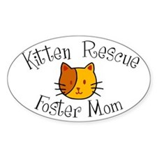 """Foster Mom"" Oval Decal"
