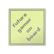 future gamer on board square sticker