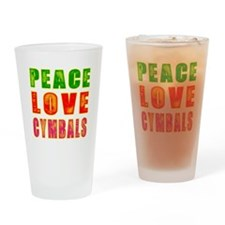 Peace Love Cymbals Drinking Glass