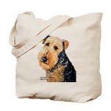 Airedale Terrier Portrait Tote Bag