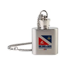 Dive Turks and Caicos Flask Necklace