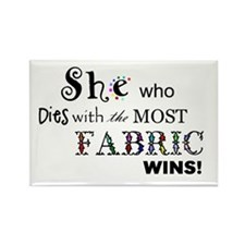 Most Fabric Wins Rectangle Magnet (10 pack)