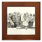 Calavera's Wild Party Framed Tile