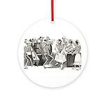 Calavera's Wild Party Ornament (Round)