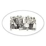 Calavera's Wild Party Oval Sticker