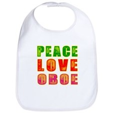 Peace Love Oboe Bib