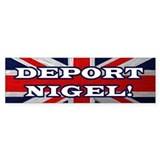 Deport Nigel Bumper Car Sticker