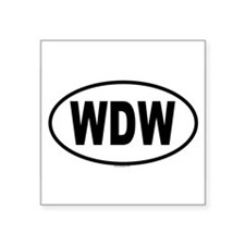 WDW Oval Sticker