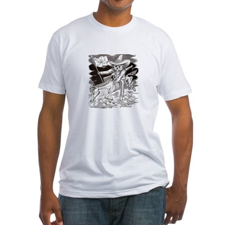 Calavera Zapatista Fitted T-Shirt