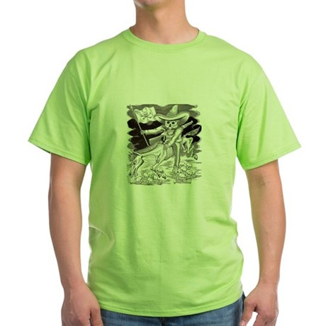 Calavera Zapatista Green T-Shirt