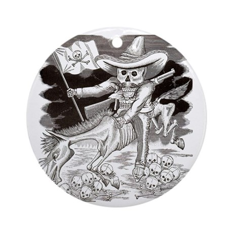Calavera Zapatista Ornament (Round)