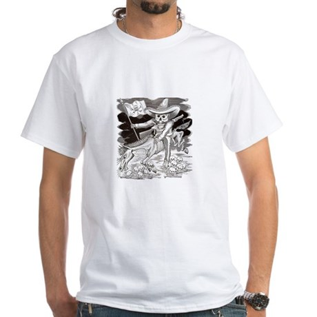 Calavera Zapatista White T-Shirt