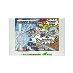Sustainable Hero Comic Rectangle Magnet
