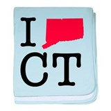 I Love Connecticut baby blanket