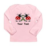 Personalized Autism Ladybug Long Sleeve Infant T-S