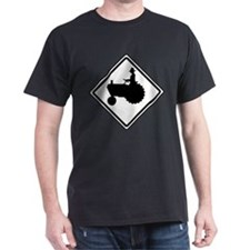 Tractor Crossing Ahead T-Shirt