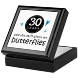 30 Year Anniversary Butterfly Keepsake Box