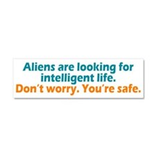 Aliens Looking Car Magnet 10 x 3