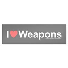 Weapons Bumper Bumper Sticker