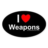 Weapons Oval Decal