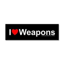Weapons Car Magnet