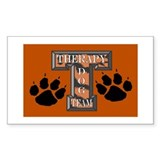 Therapy Dog Team Rectangle Decal