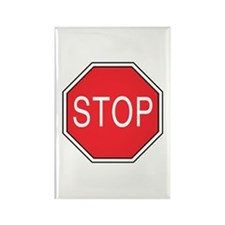 Stop Sign Rectangle Magnet (100 pack)