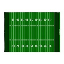 5'x7'Football Field Area Rug
