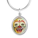 Silver Clown Face Necklace