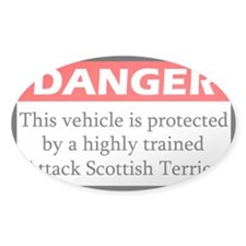 Attack Scottish Terrier Decal