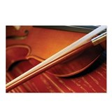 Close-up of violin and vi Postcards (Package of 8)