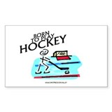 Born To Play Hockey Rectangle Decal
