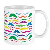 Mustach Color Pattern  Tasse