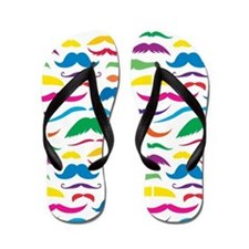 Mustach Color Pattern Flip Flops