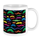 Mustach Color Pattern Black Coffee Mug