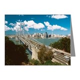 High angle view of San Franc Note Cards (Pk of 10)