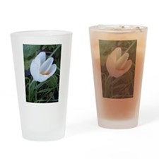 White Tulip Drinking Glass