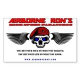 Airborne Ron's High Speed Logo Gear Decal